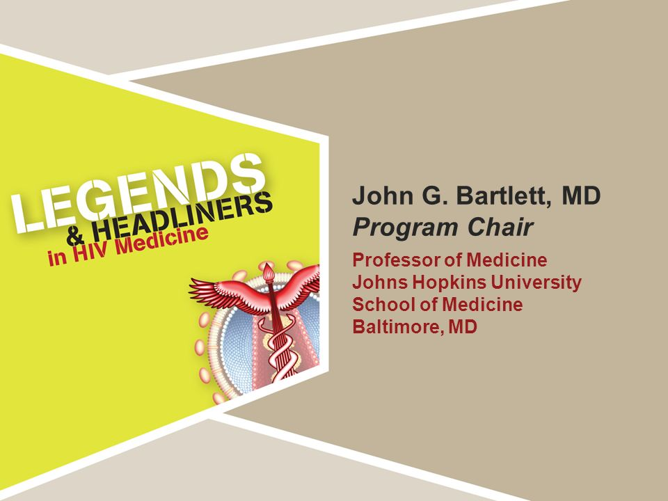 John G. Bartlett, MD Program Chair