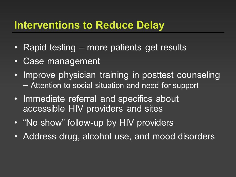 Interventions to Reduce Delay