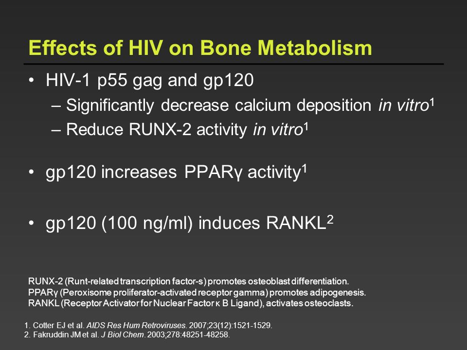 Effects of HIV on Bone Metabolism
