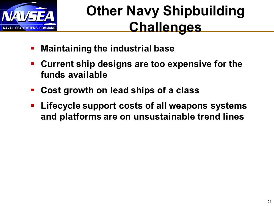 Other Navy Shipbuilding Challenges