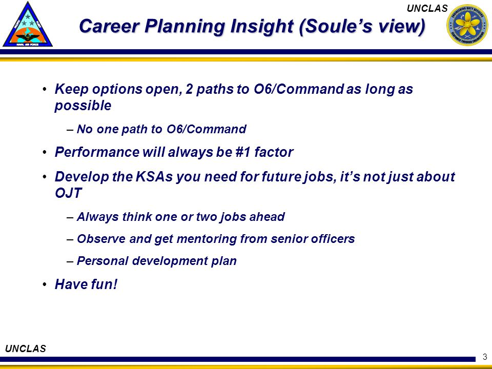 Career Planning Insight (Soule's view)