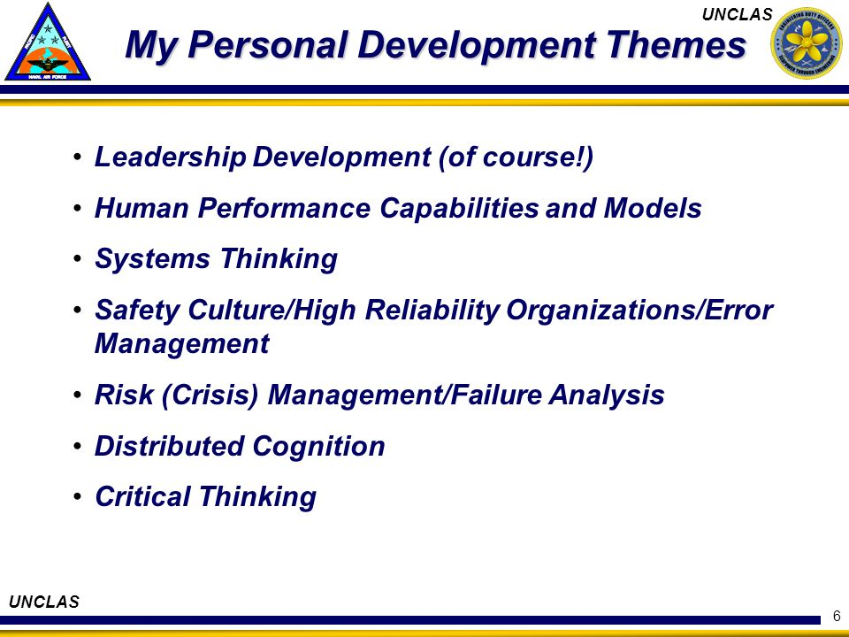My Personal Development Themes