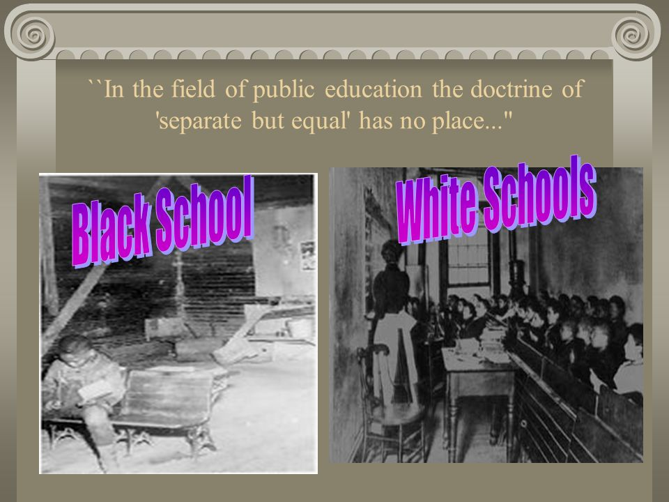 White Schools Black School