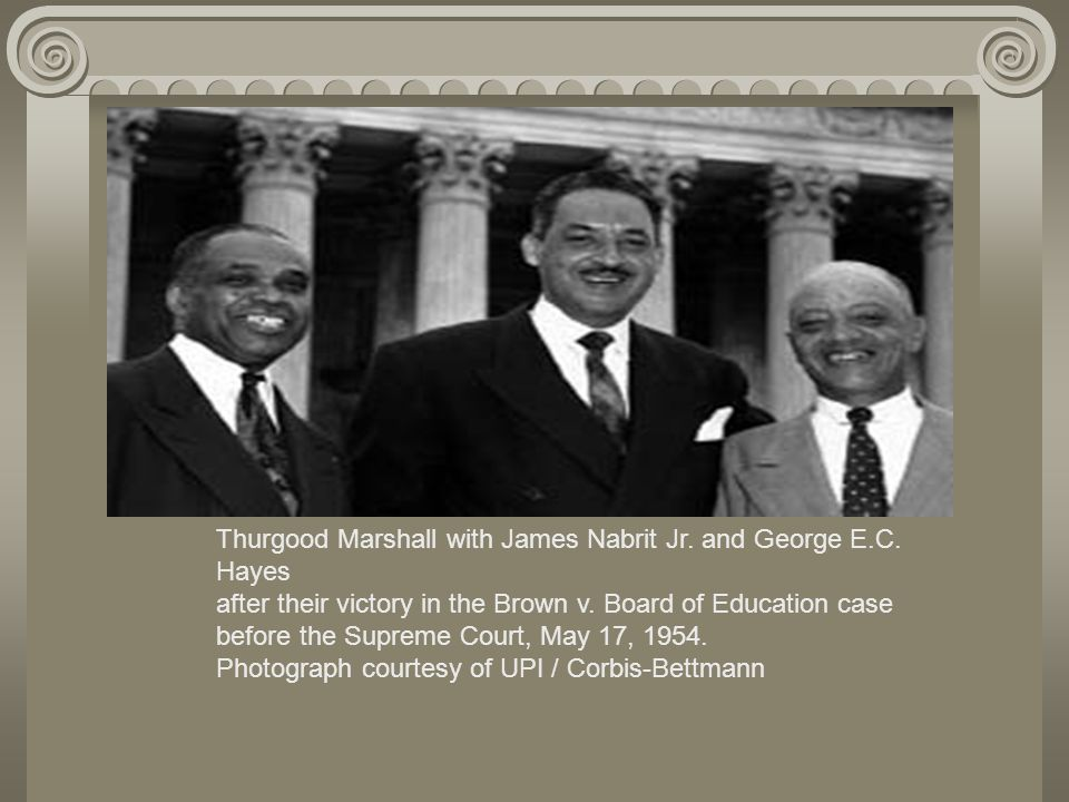 Thurgood Marshall with James Nabrit Jr. and George E. C