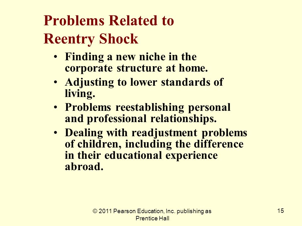 Problems Related to Reentry Shock