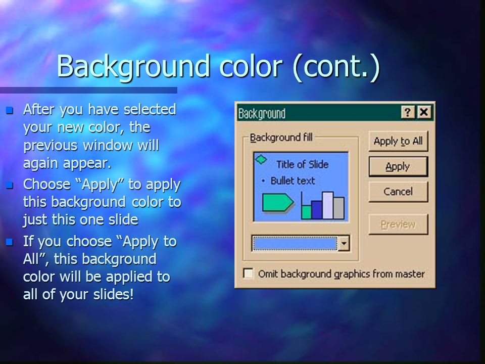 Background color (cont.)