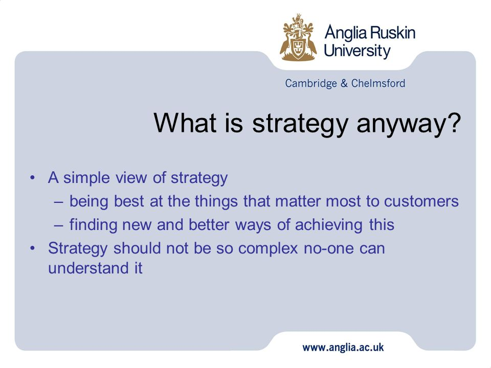 What is strategy anyway