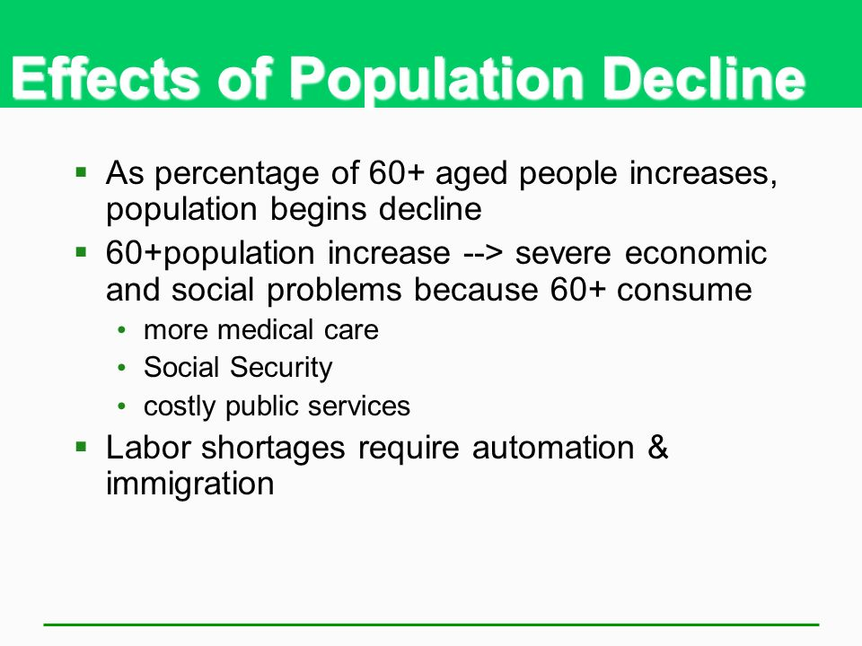 Effects of Population Decline