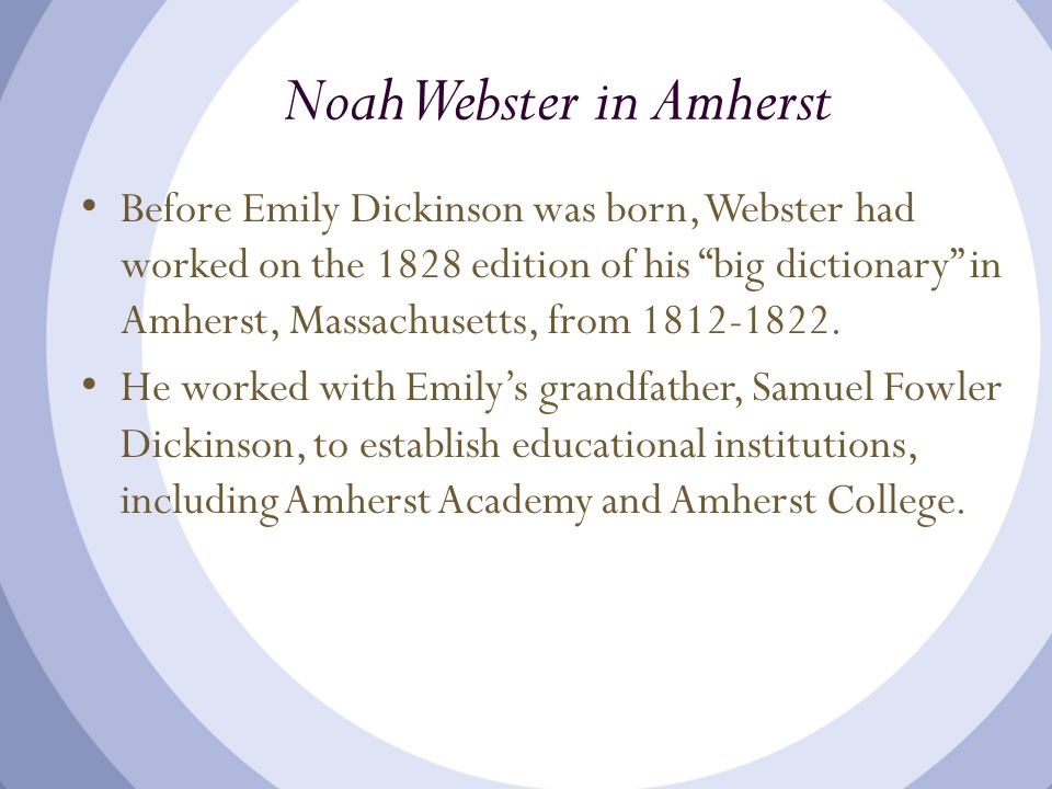Noah Webster in Amherst