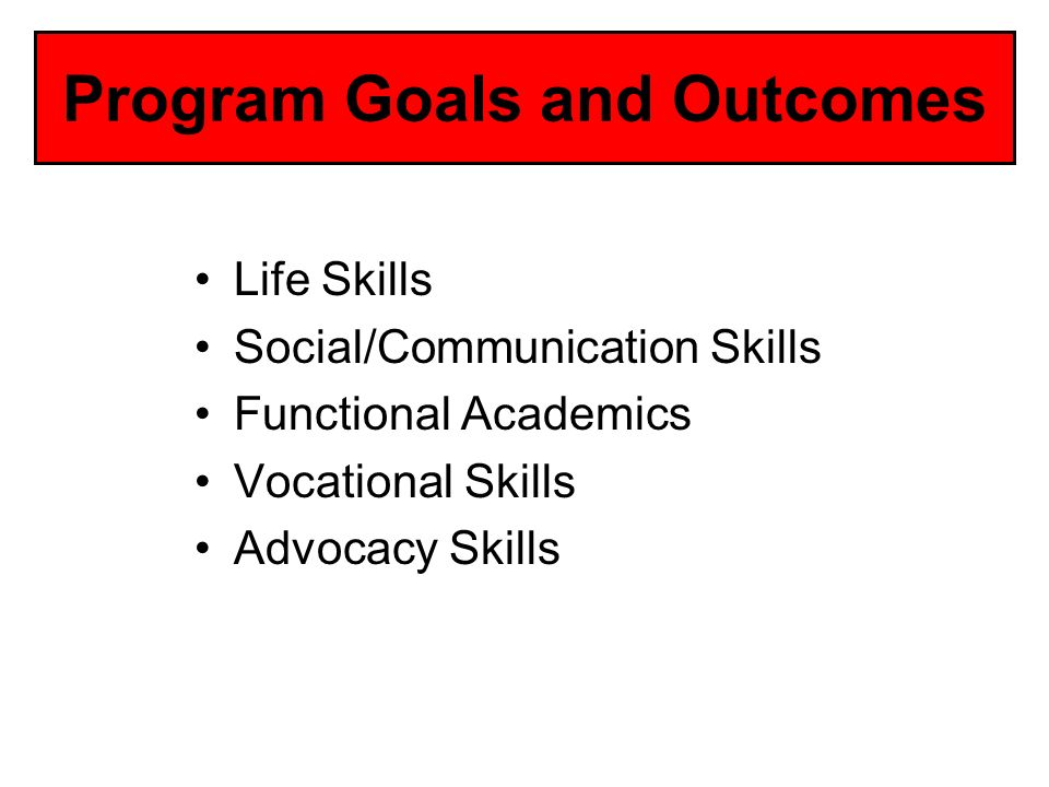 Program Goals and Outcomes