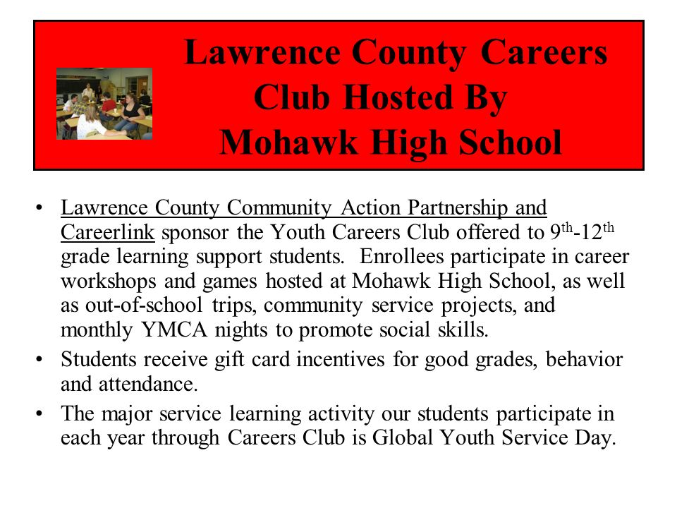 Lawrence County Careers Club Hosted By Mohawk High School
