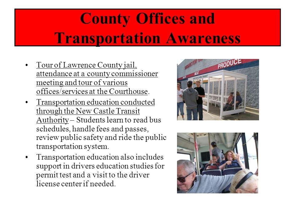 County Offices and Transportation Awareness