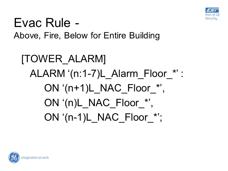 Evac Rule - Above, Fire, Below for Entire Building