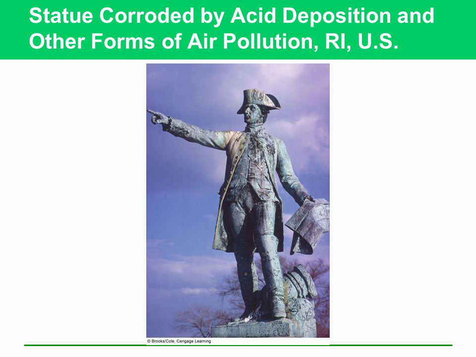 Statue Corroded by Acid Deposition and Other Forms of Air Pollution, RI, U.S.