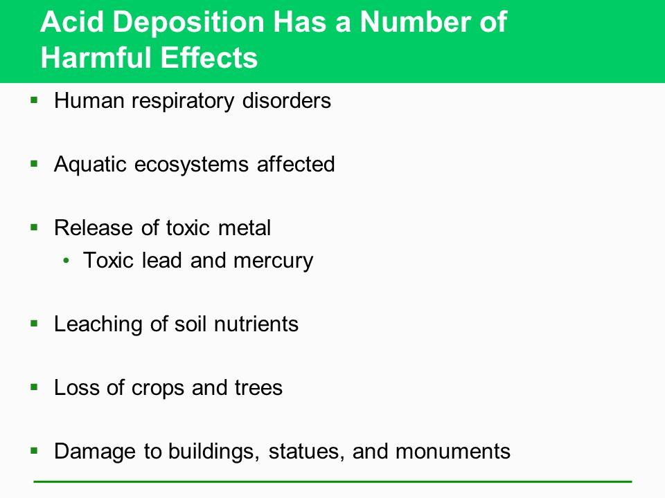 Acid Deposition Has a Number of Harmful Effects