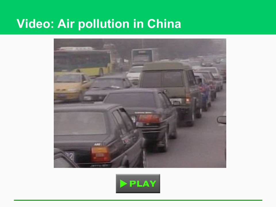 Video: Air pollution in China
