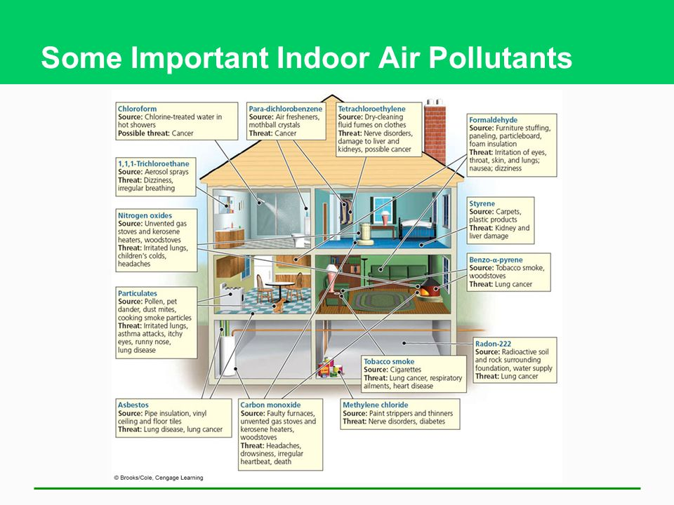 Some Important Indoor Air Pollutants