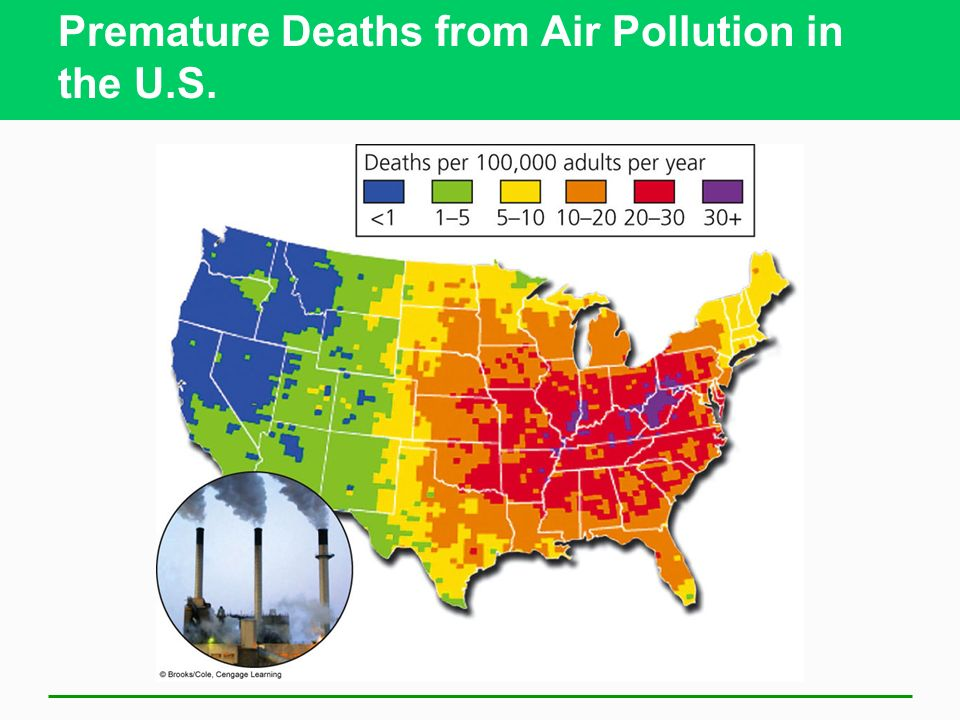 Premature Deaths from Air Pollution in the U.S.