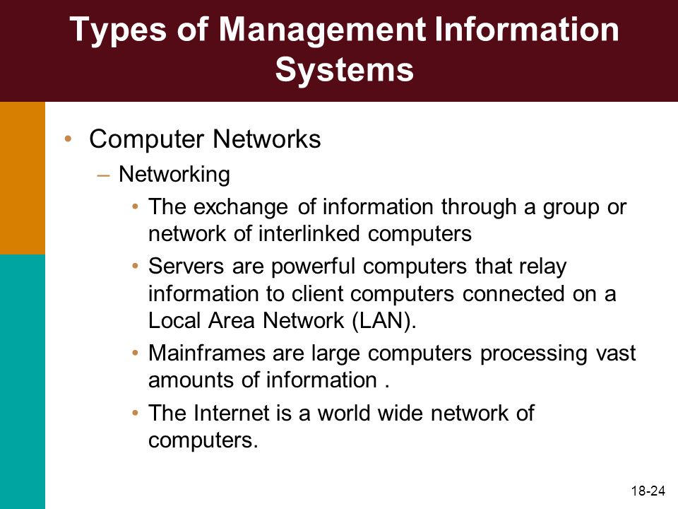 Types of Management Information Systems