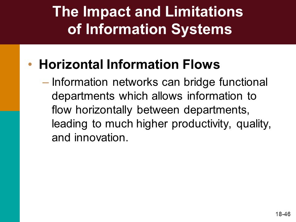 The Impact and Limitations of Information Systems