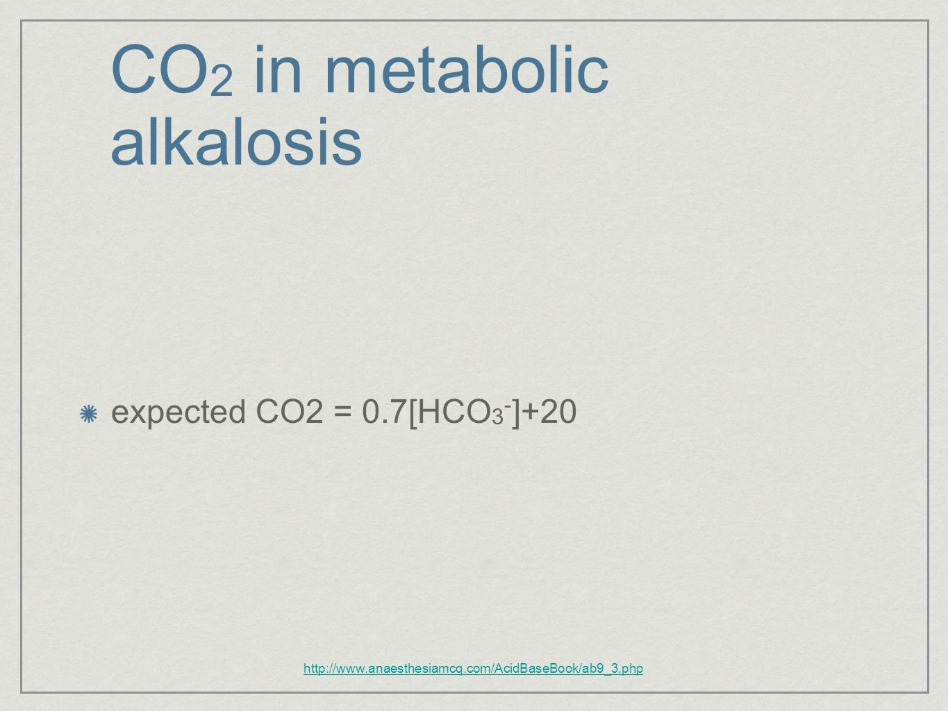 CO2 in metabolic alkalosis