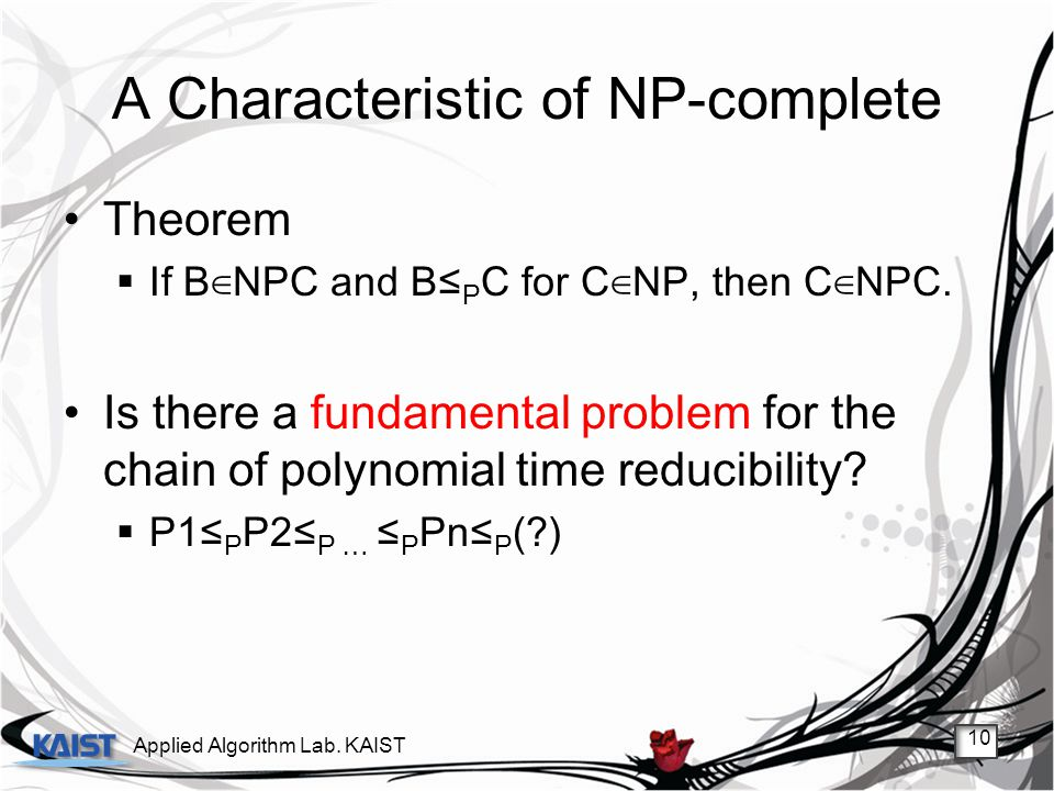 A Characteristic of NP-complete