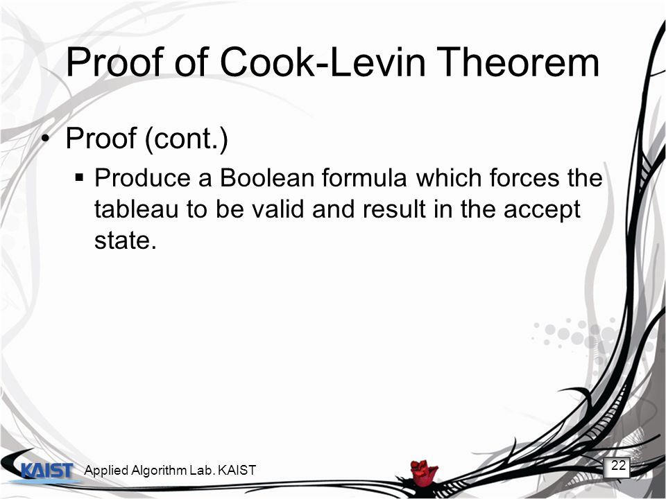Proof of Cook-Levin Theorem