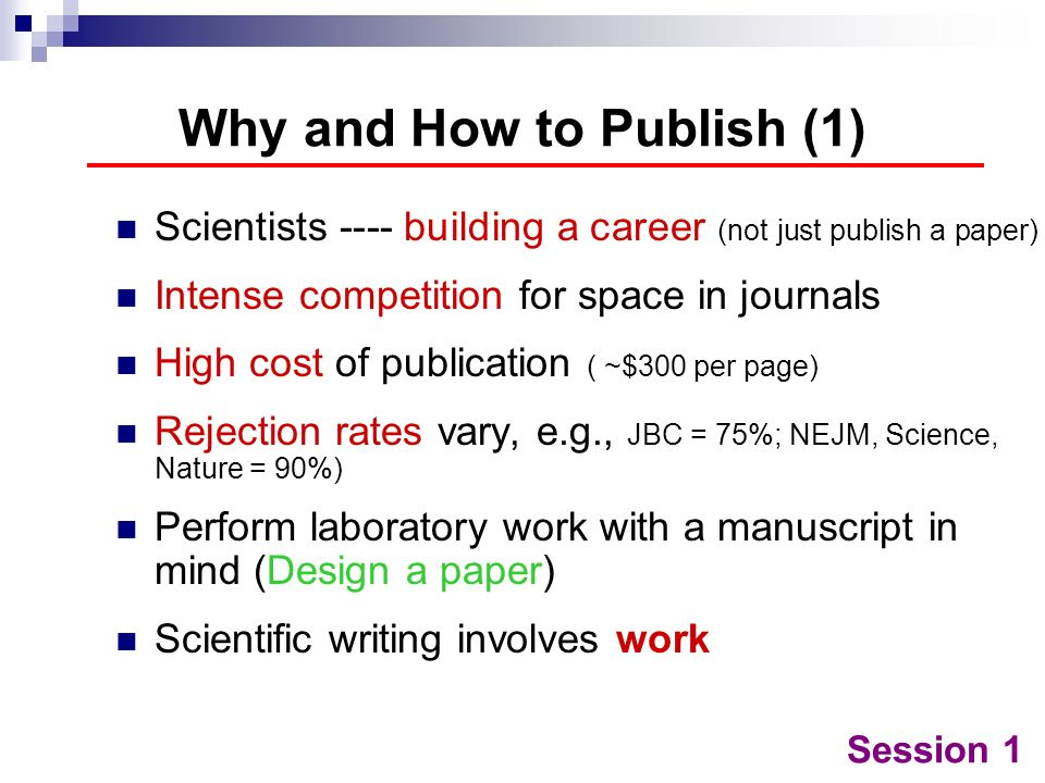 Why and How to Publish (1)