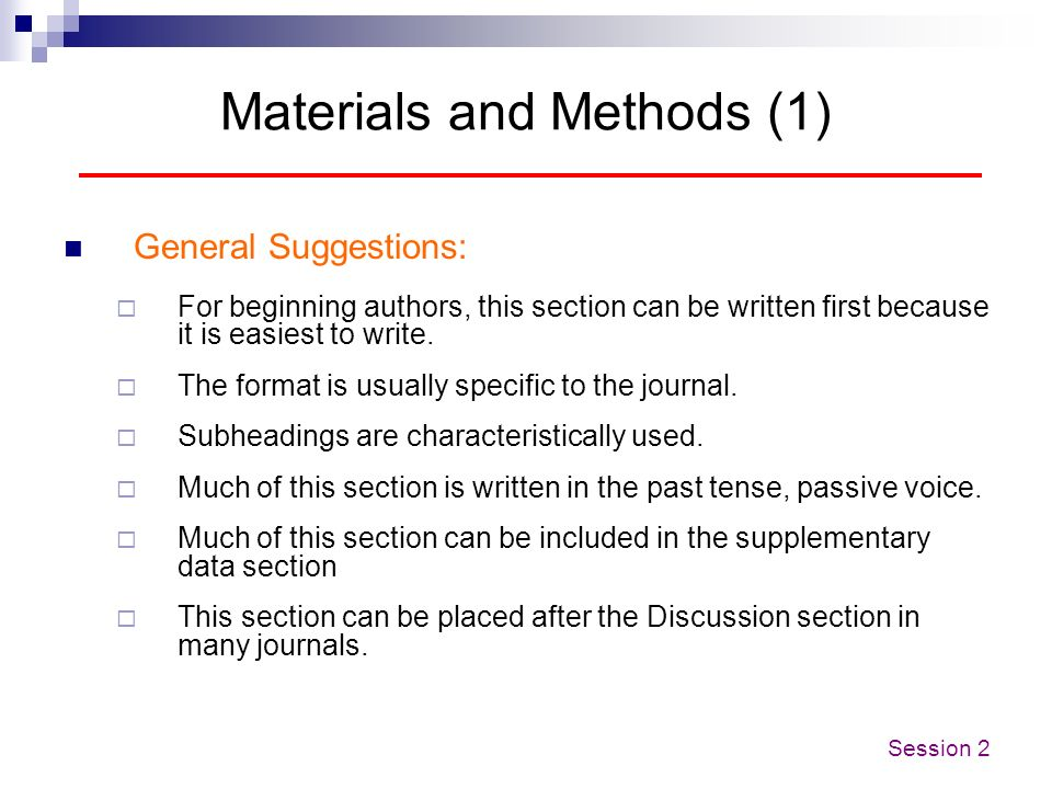 Materials and Methods (1)