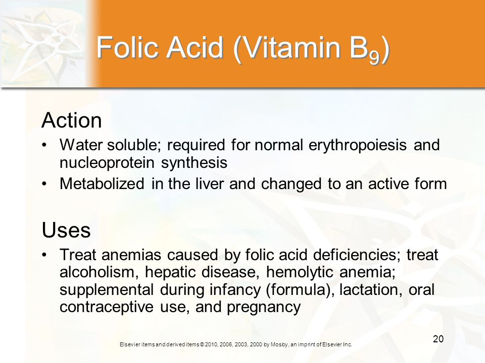 Folic Acid (Vitamin B9) Action Uses