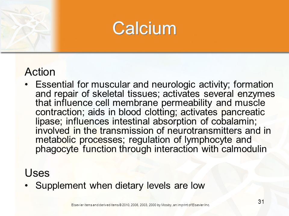 Calcium Action.