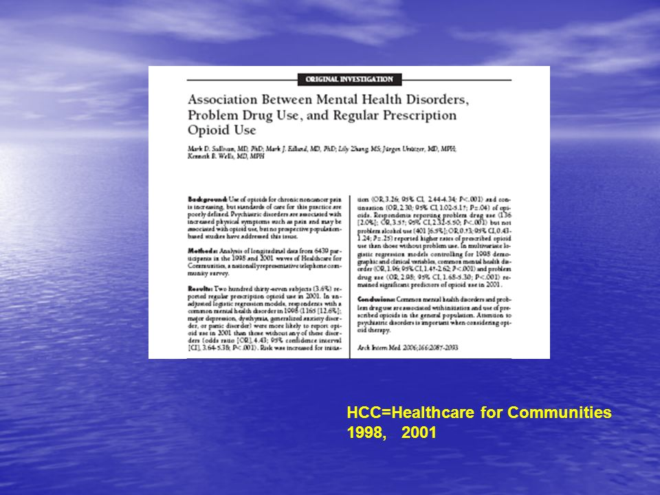 HCC=Healthcare for Communities