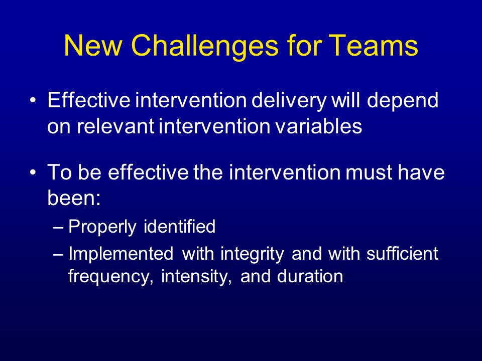 New Challenges for Teams