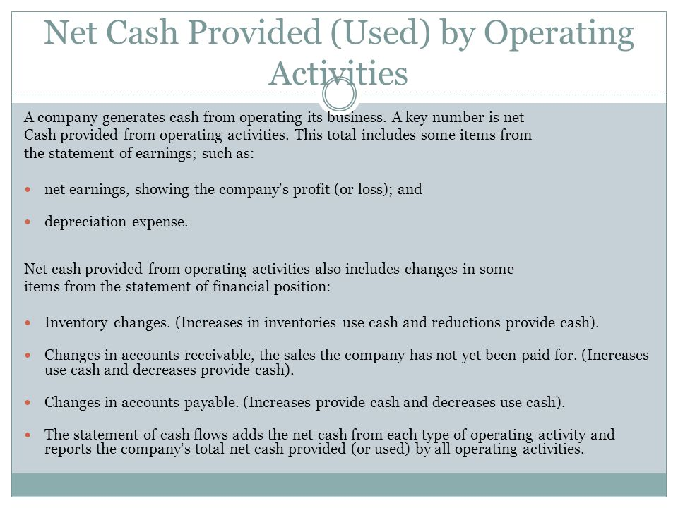 Net Cash Provided (Used) by Operating Activities