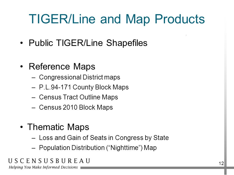 TIGER/Line and Map Products