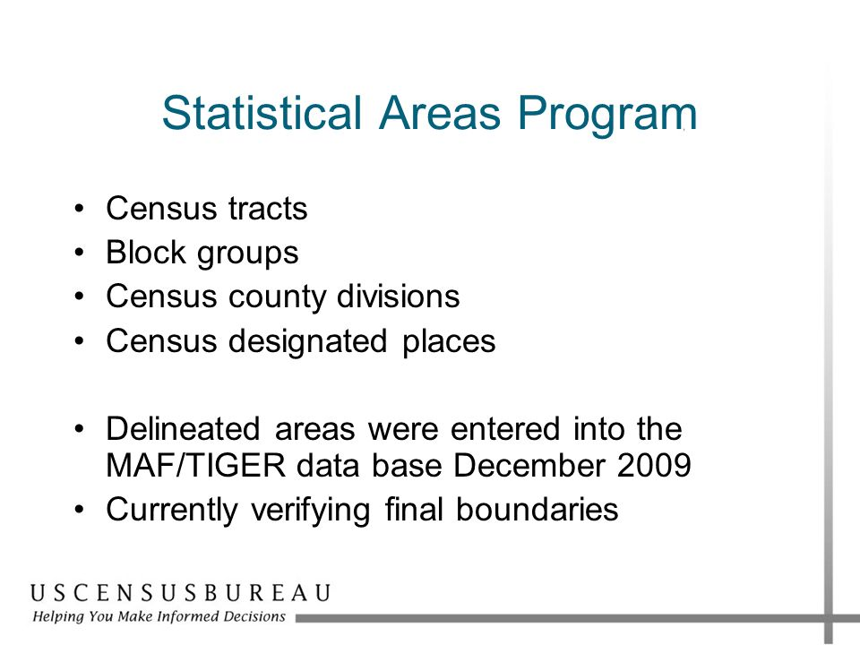 Statistical Areas Program