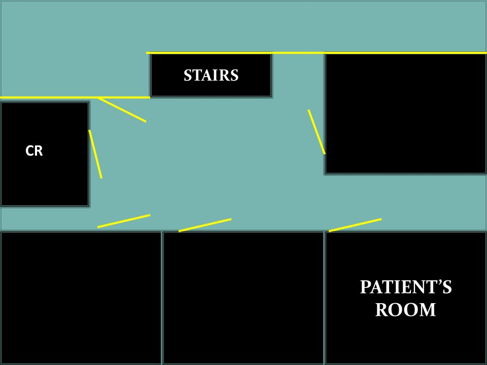 STAIRS CR What's the approximate size of the place PATIENT'S ROOM