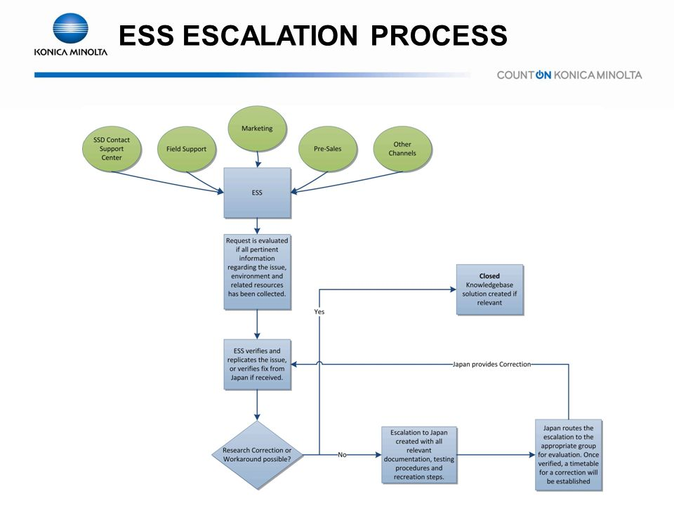 ESS ESCALATION PROCESS