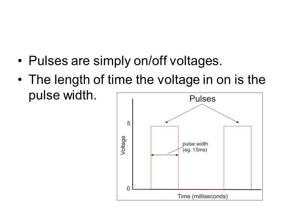 Pulses are simply on/off voltages.