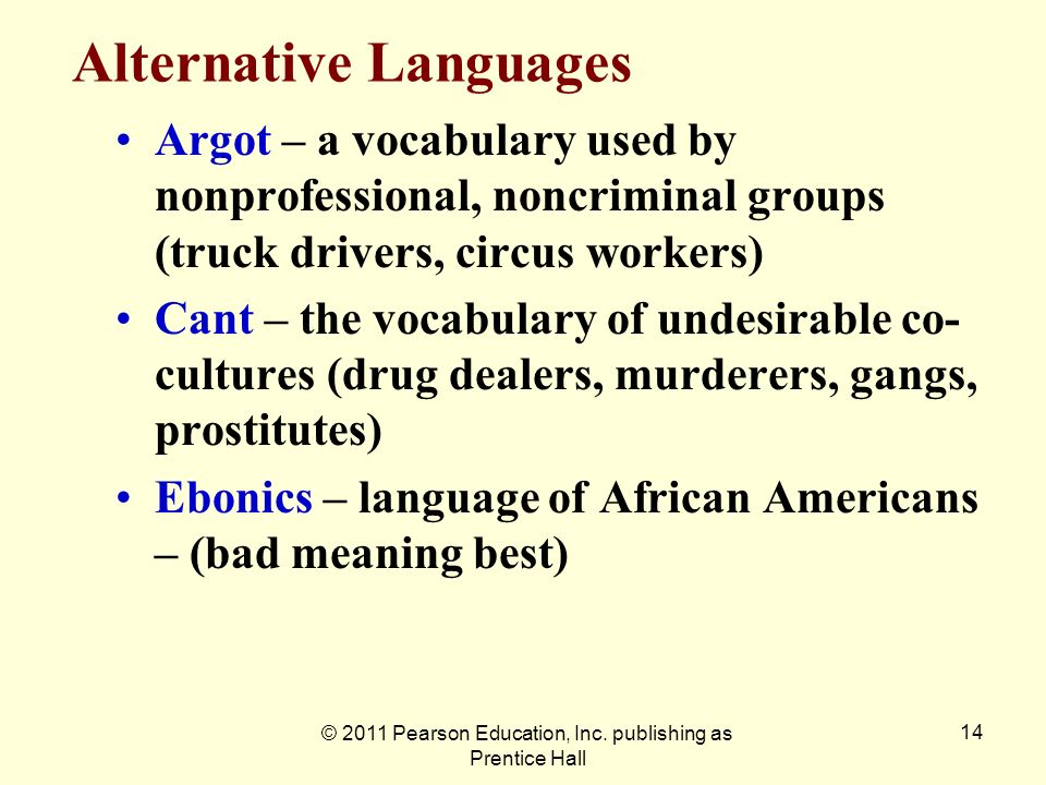 Alternative Languages