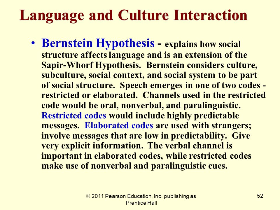 Language and Culture Interaction