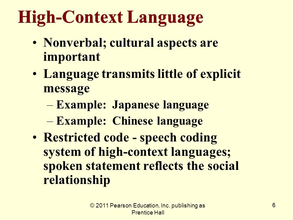 High-Context Language