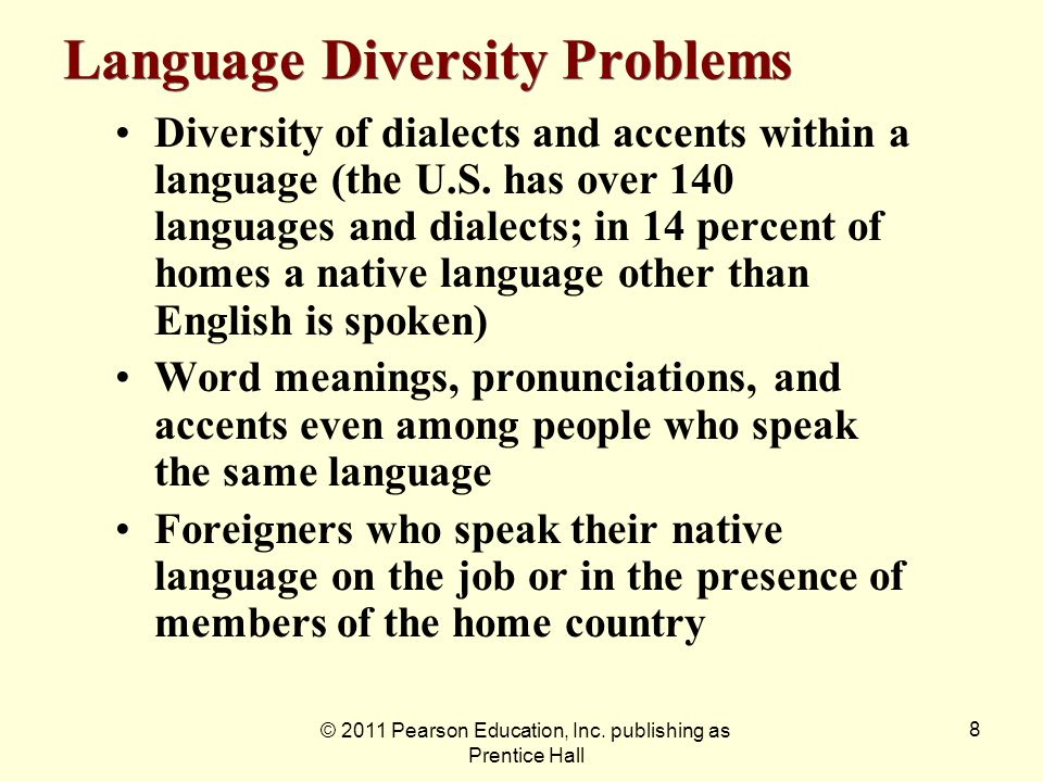 Language Diversity Problems