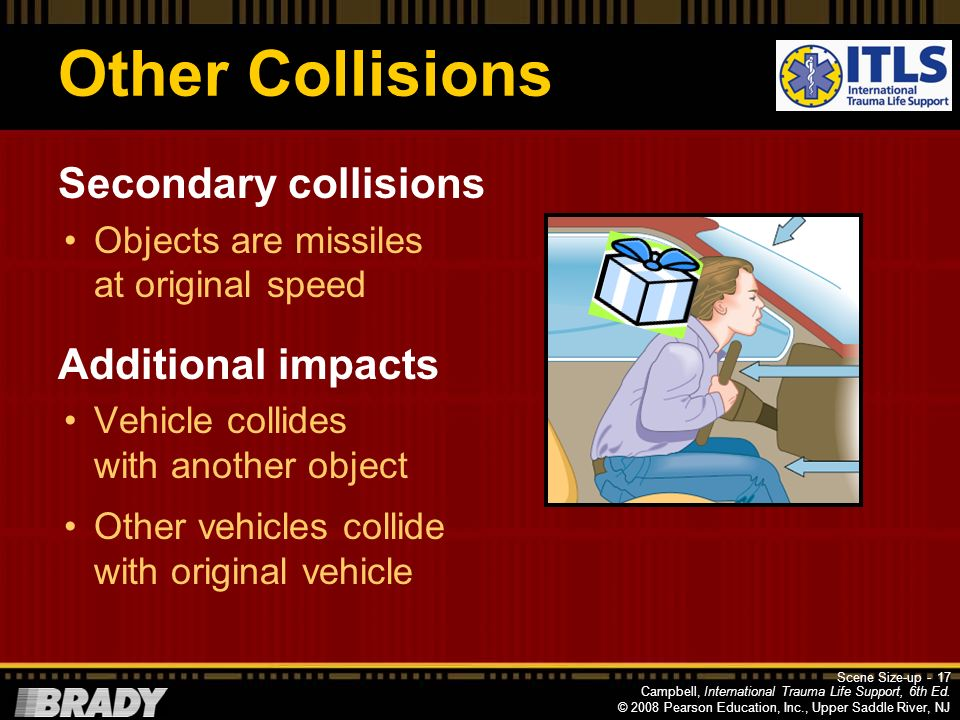 Other Collisions Secondary collisions Additional impacts
