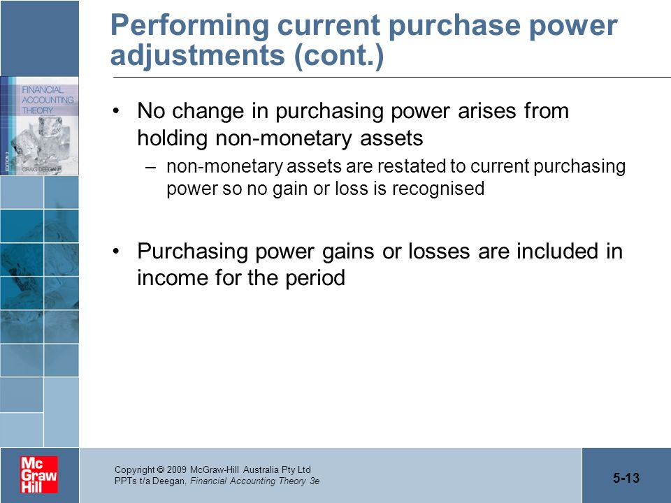 Performing current purchase power adjustments (cont.)