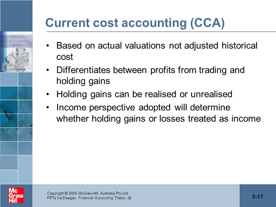 Current cost accounting (CCA)