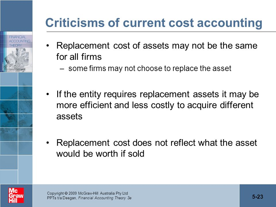 Criticisms of current cost accounting