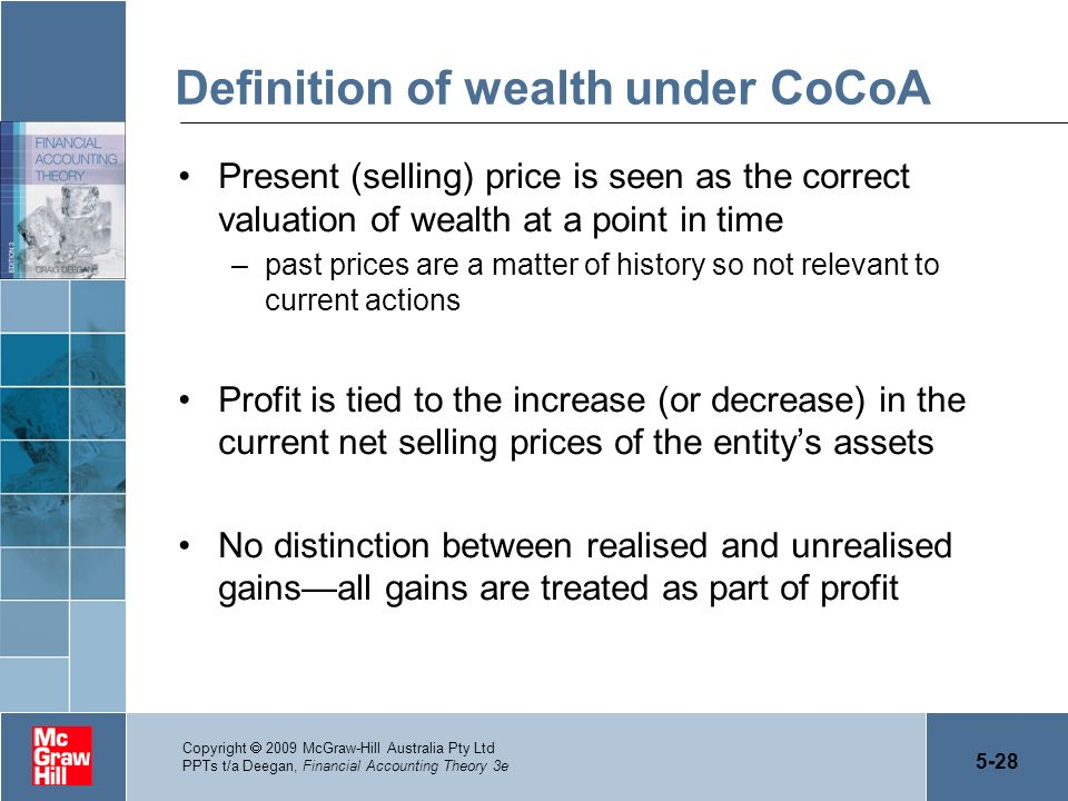 Definition of wealth under CoCoA