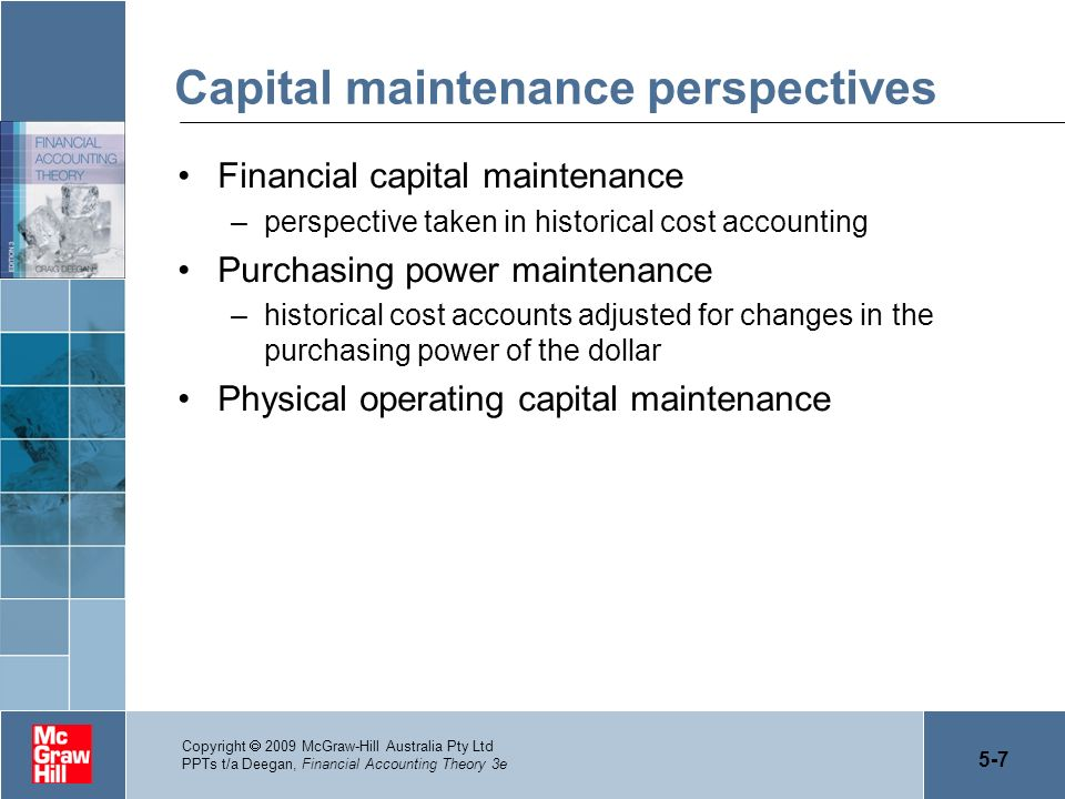 Capital maintenance perspectives