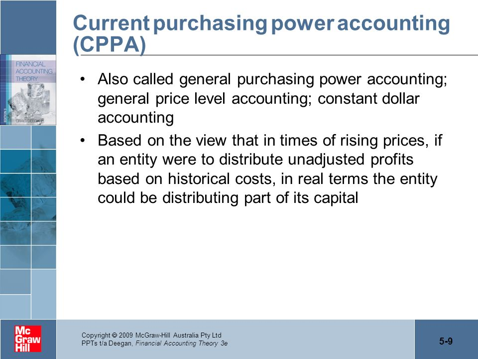 Current purchasing power accounting (CPPA)